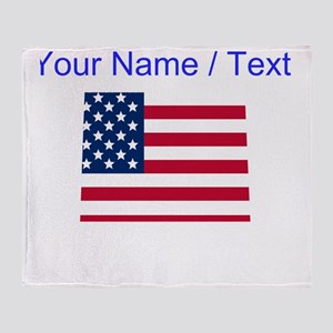 Custom Colorado American Flag Throw Blanket