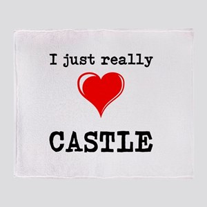 The Love for Castle Throw Blanket