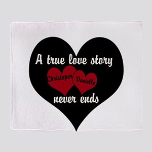 Personalize True Love Story Throw Blanket