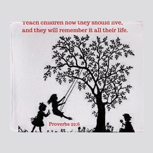 Proverbs 22:6 Throw Blanket