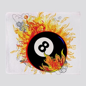 Fiery Eight Ball Throw Blanket