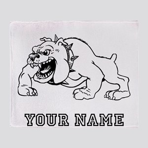 Mean Bulldog (Custom) Throw Blanket