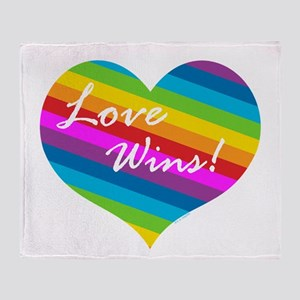 Love Wins Throw Blanket