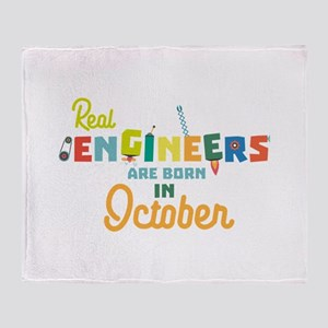 Engineers are born in October Cs52p Throw Blanket