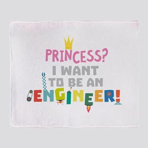 Princess I want to be an Engnineer Throw Blanket