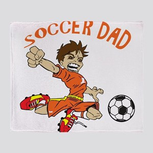 SOCCER DAD BRUNETTE ORANGE Throw Blanket