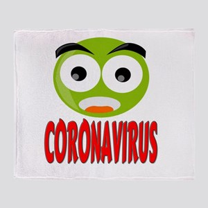 Coronavirus Plush Fleece Throw Blanket