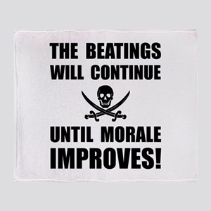 Beatings Morale Improve Throw Blanket