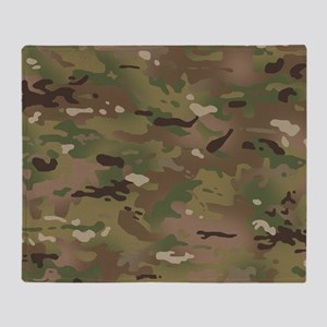 Military Camouflage Pattern Throw Blanket