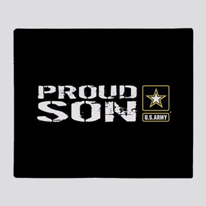 U.S. Army: Proud Son (Black) Throw Blanket