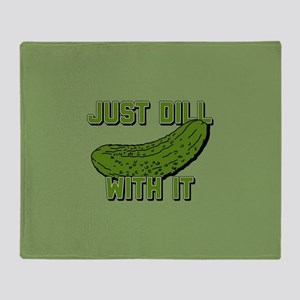 Just Dill With It Throw Blanket