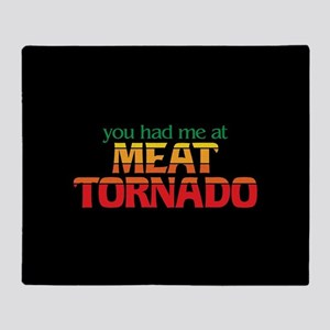 Meat Tornado Throw Blanket