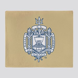 U.S. Naval Academy Crest Throw Blanket