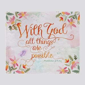 With God Throw Blanket