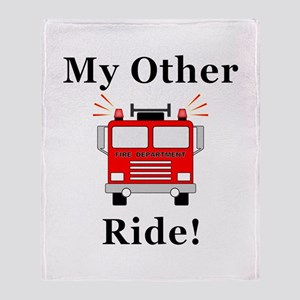 Fire Truck Ride Throw Blanket