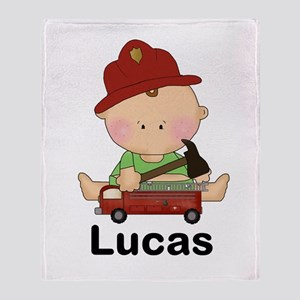Lucas's Little Firefighter Throw Blanket