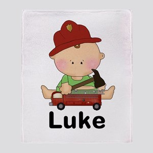Luke's Little Firefighter Throw Blanket