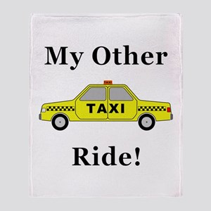 Taxi My Other Ride Throw Blanket