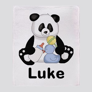 Luke's Little Panda Throw Blanket