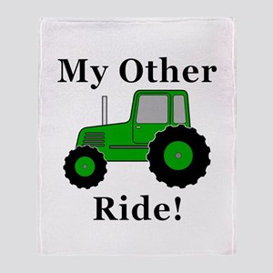 Tractor Other Ride Throw Blanket