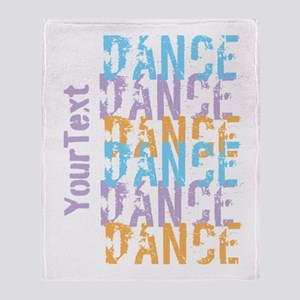 DANCE Optional Text Throw Blanket