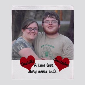 Personalize Picture Name True Love Throw Blanket