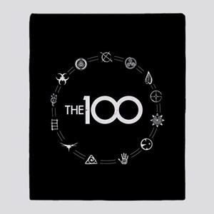 The 100 The Clan Symbols Throw Blanket