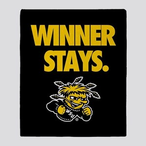 Wichita State Winner Stays Throw Blanket