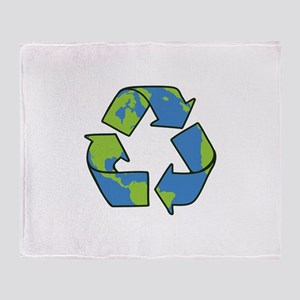 Recycle Symbol Throw Blanket