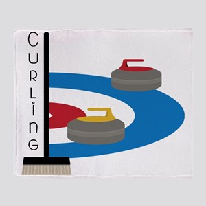 Curling Field Throw Blanket