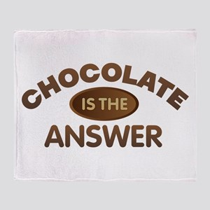 Chocolate is the Answer Plush Fleece Throw Blanket
