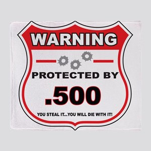 protected by 500 shield Throw Blanket