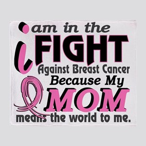 - Mom Means World Breast Cancer Throw Blanket