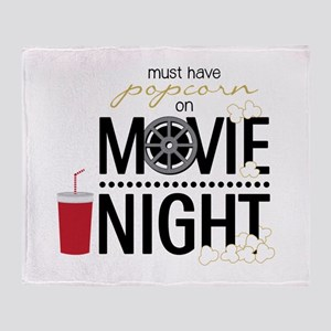 Movie Night Pop Throw Blanket