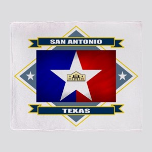 San Antonio Flag Throw Blanket