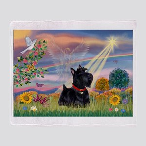 Cloud Angel & Scotty Throw Blanket