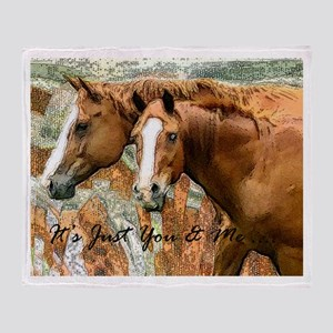 It's Just Me & You Horse Gift Throw Blanket