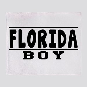 Florida Boy Designs Throw Blanket