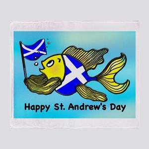 Happy St. Andrews Day Throw Blanket