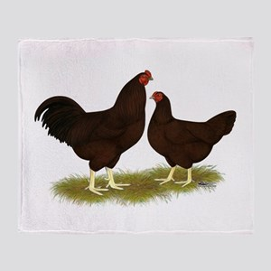 Buckeye Chickens Throw Blanket