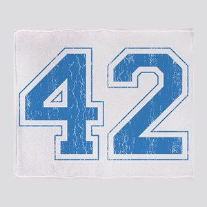 Retro Number 42 Throw Blanket