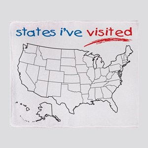 States I've Been To Throw Blanket