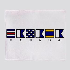 Nautical Canada Throw Blanket