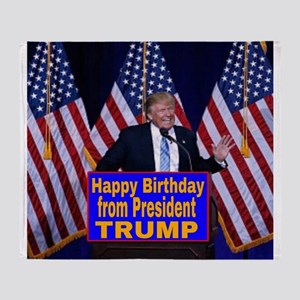 Happy Birthday from President Trump Throw Blanket
