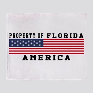 Property of Florida Throw Blanket