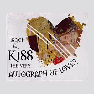 kiss-autograph-of-love Throw Blanket