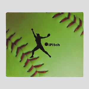 iPitch Fastpitch Softball (right han Throw Blanket