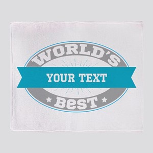 Worlds Best Personalized Throw Blanket