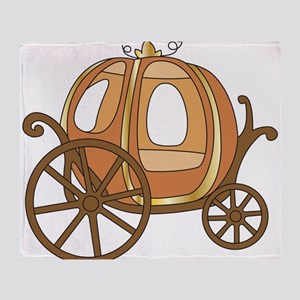Pumpkin Carriage Throw Blanket