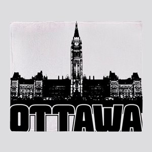 Ottawa Skyline Throw Blanket